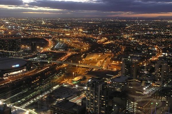 Central Melbourne in Victoria State Australia